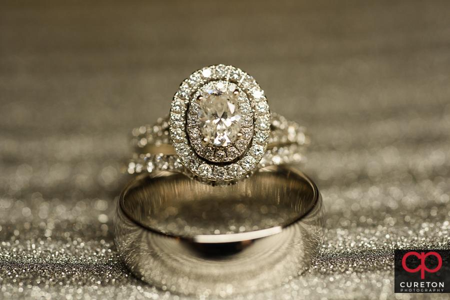 Wedding ring up close.