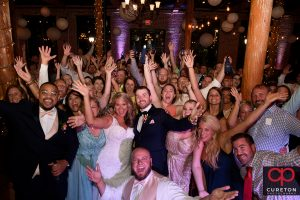 Packed dance floor.