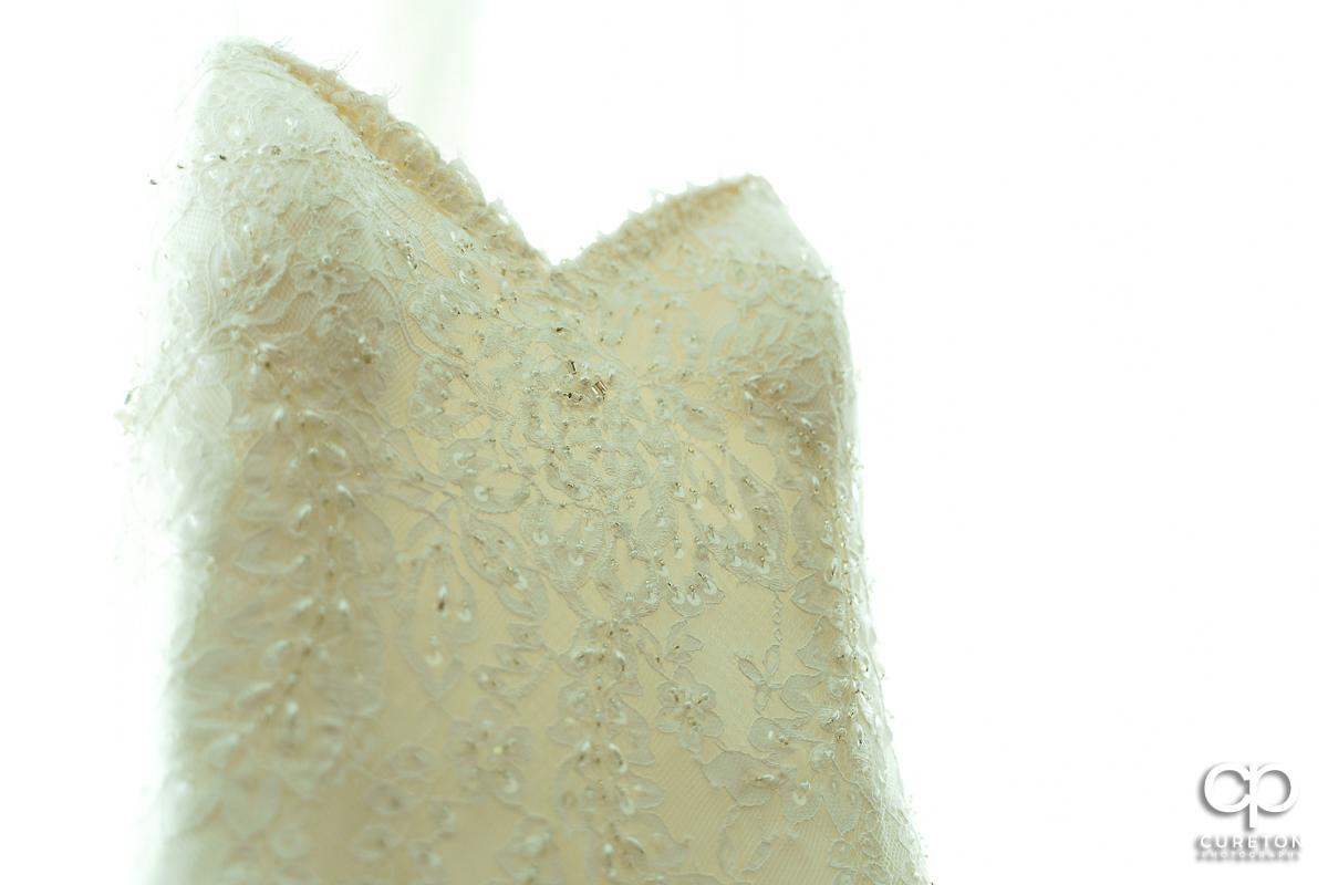Bridal dress detail.