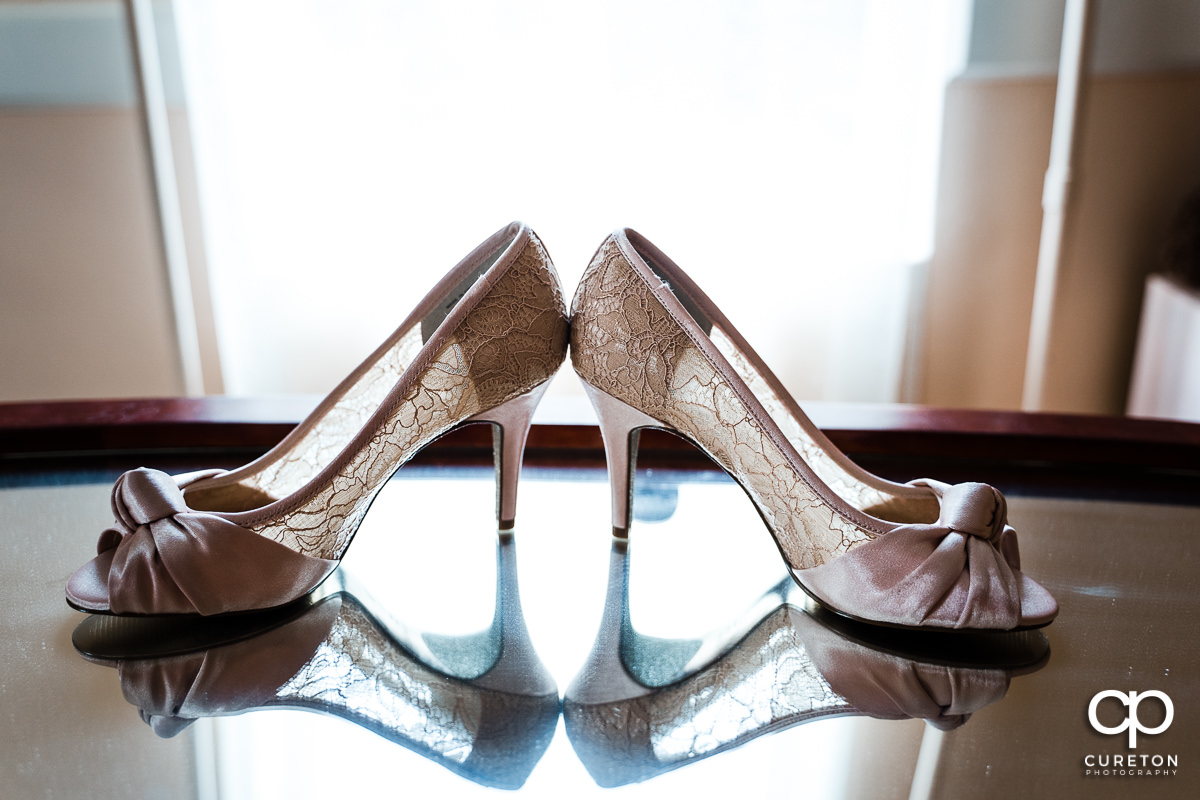 Bride's shoes.