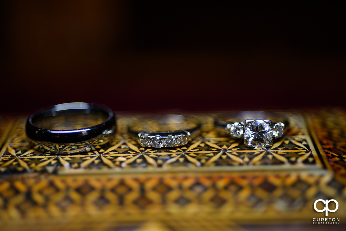 All three wedding rings.