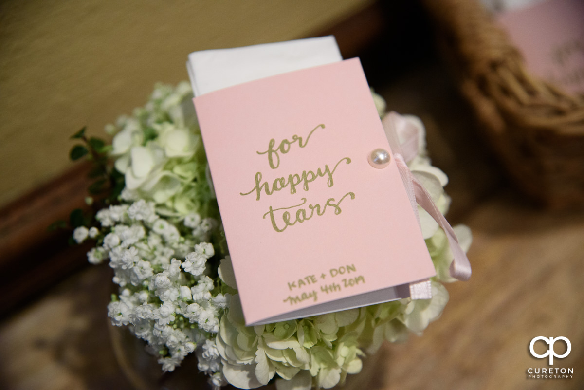 Wedding tissues.