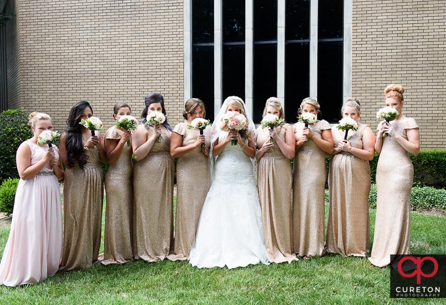 Bride and bridemaids.