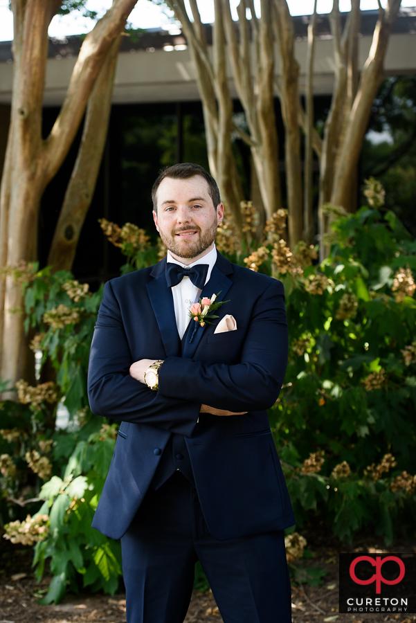 Groom before the wedding.