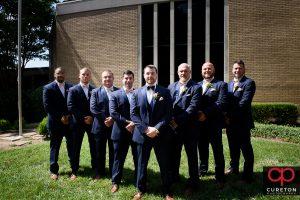 Groom and groomsmen.