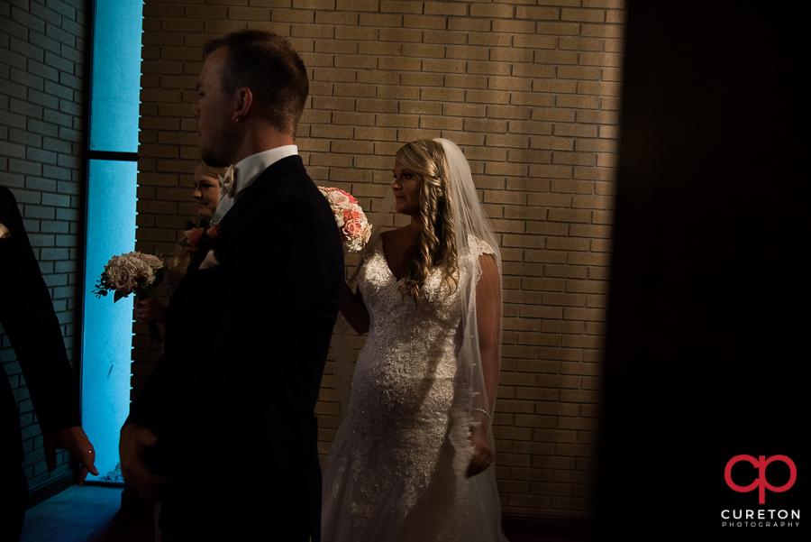Bride before her wedding.