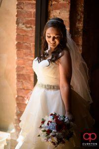 Bride in pretty light.
