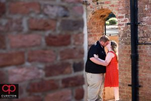 Couple in the archway at The Old Cigar Warehouse.