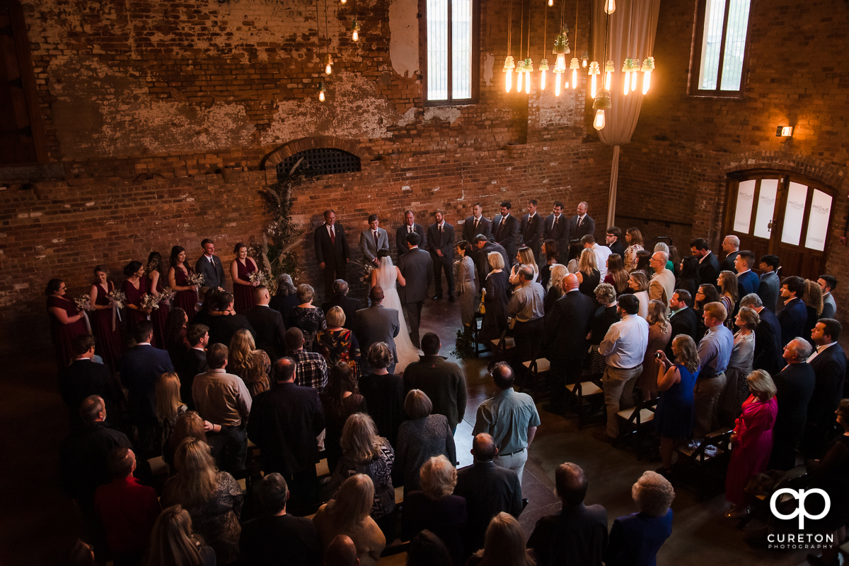 Old Cigar Warehouse wedding ceremony.