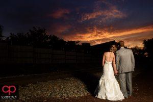 Epic sunset at an Old Cigar Warehouse wedding.