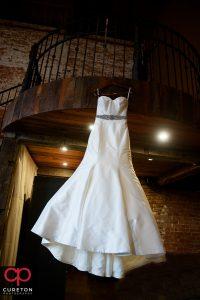 The bride's dress.