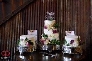 Beautiful wedding cake from Walnut Street Bakery.