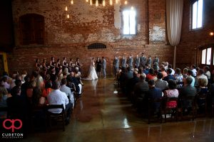 Wedding at the Old Cigar Warehouse in downtown Greenville,SC.