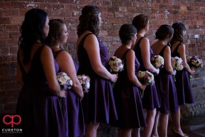 Bridesmaids during the ceremony.