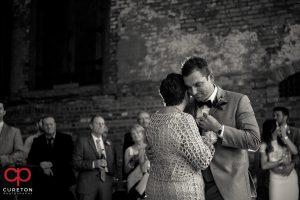 Groom and his mom sharing a dance.
