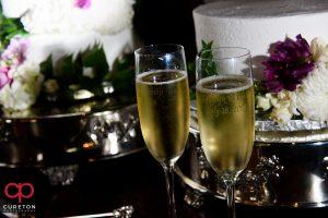 Champagne toast glasses.