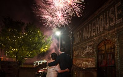 Wedding at The Old Cigar Warehouse with Fireworks – Tori + Mike – Greenville,SC