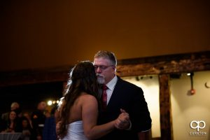 Father of the bride dancing with his daughter.