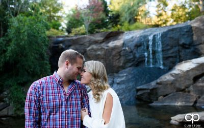 Rock Quarry Garden Save The Date Session – Brooke + Grant – Greenville,SC Engagement