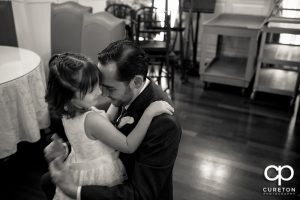 The groom and his daughter.