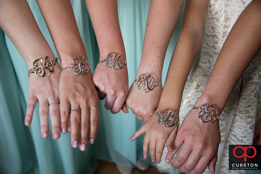 The bridesmaids' gifts.