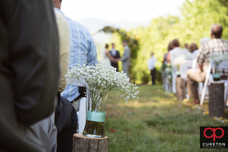 Song Hill Reserve wedding ceremony.
