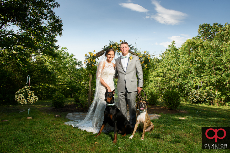 Married couple and their dogs.