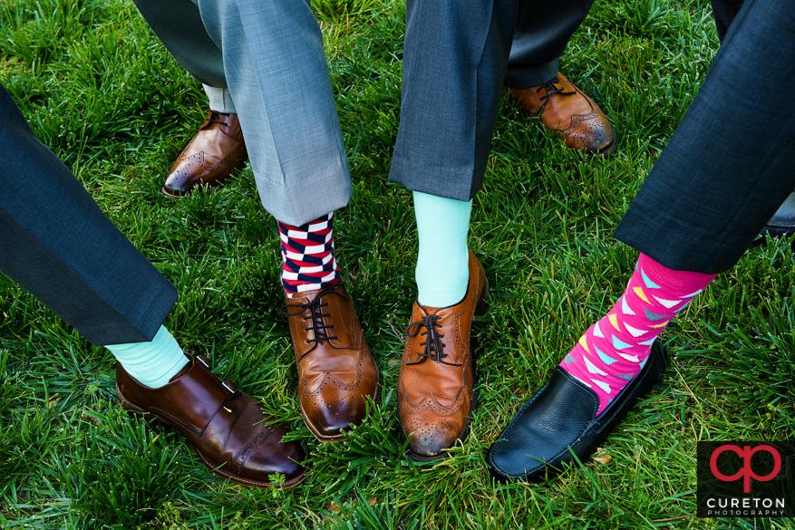 Groomsmen's socks.