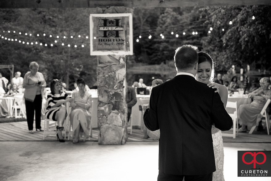 Bride dancing with her uncle.