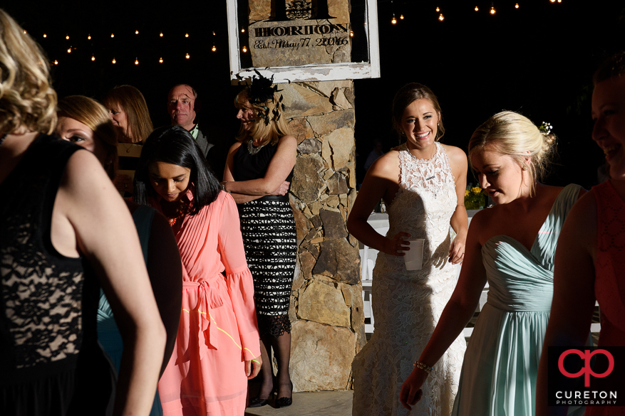 Dancing at the reception.