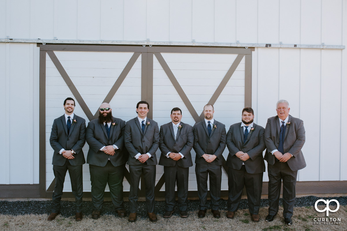 Groom and groomsmen at South Wind Ranch.