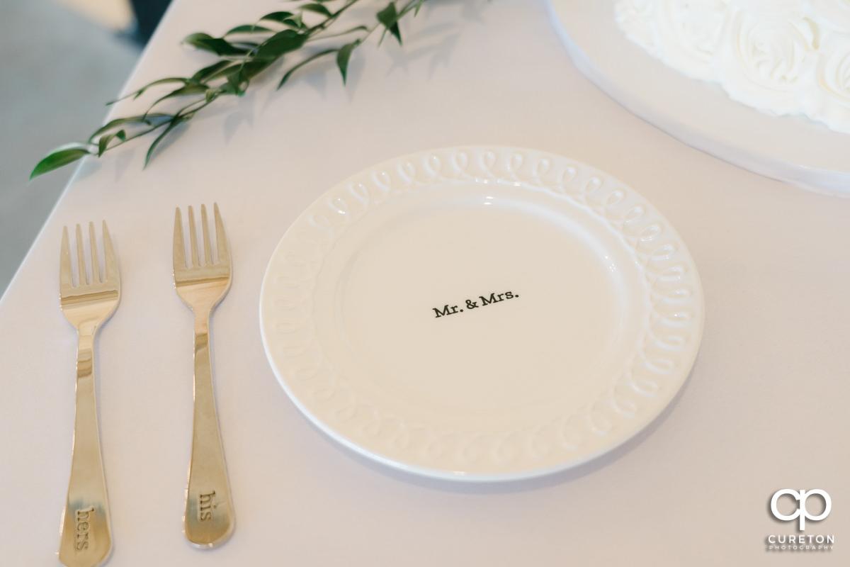 Wedding cake plates.