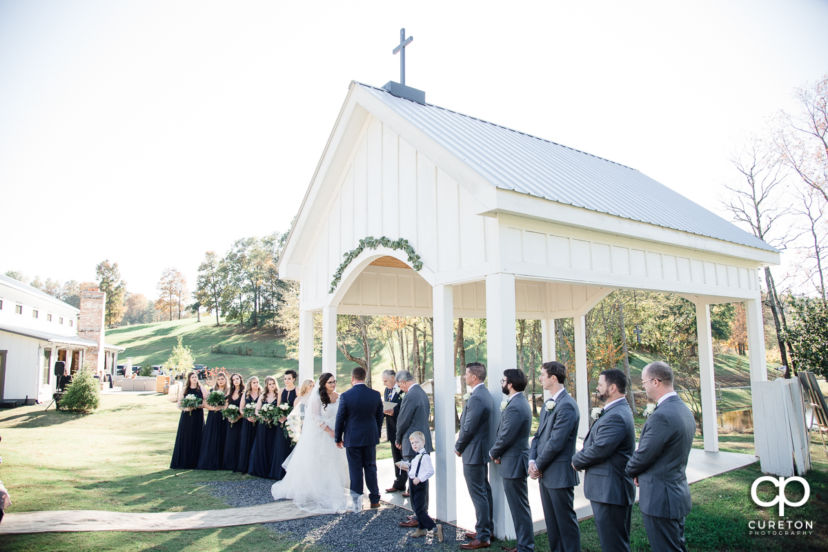 South Wind Ranch wedding ceremony at the outdoor chapel.