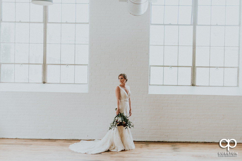 Bride during a fashion forward bridal session.