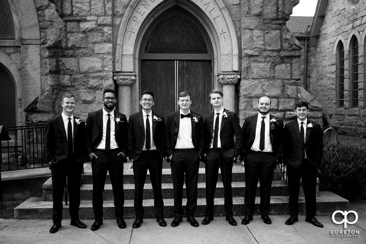 Groom and groomsmen before the ceremony.