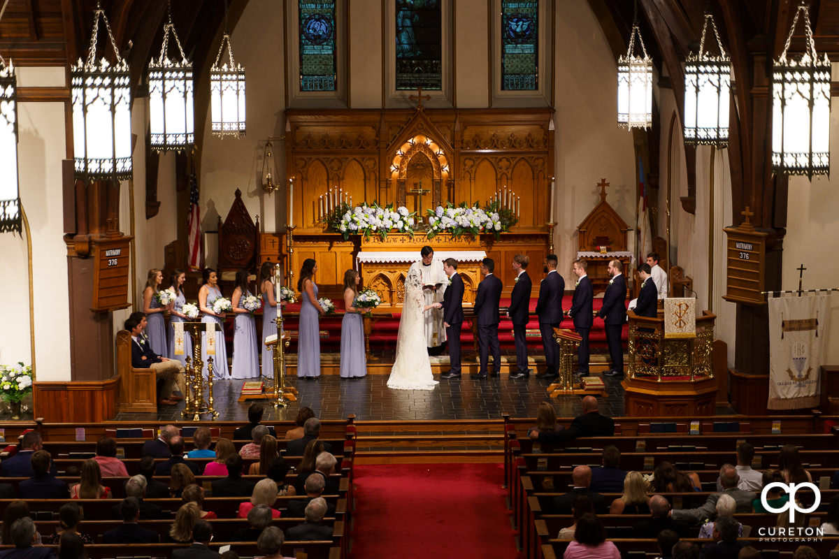 Spartanburg church wedding ceremony.