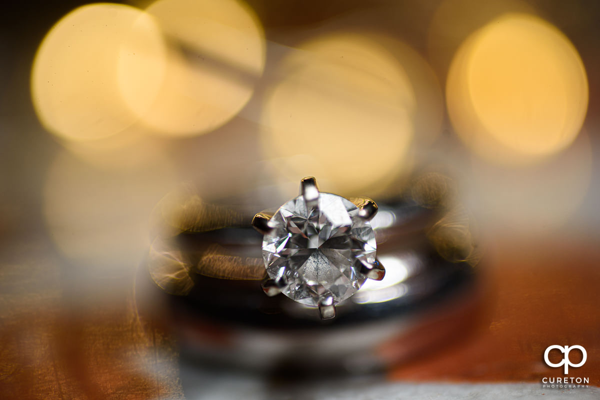 Wedding ring closeup.