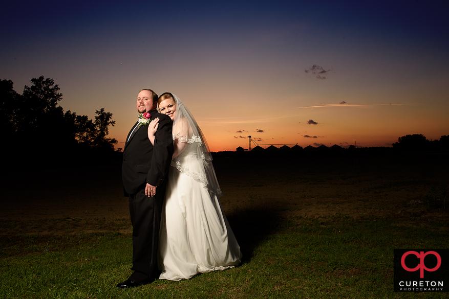 Sunset after a Sumter,SC wedding.