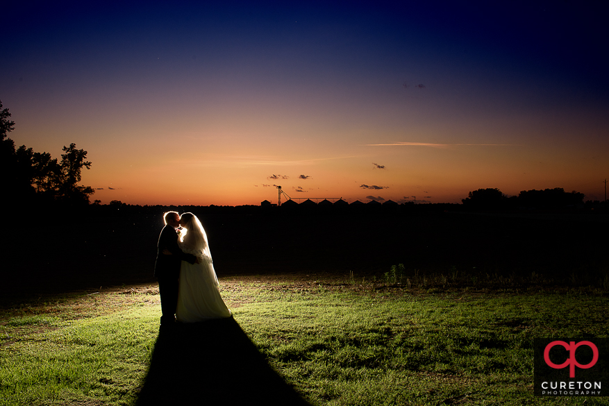 Married couple after their Sumter , SC wedding.
