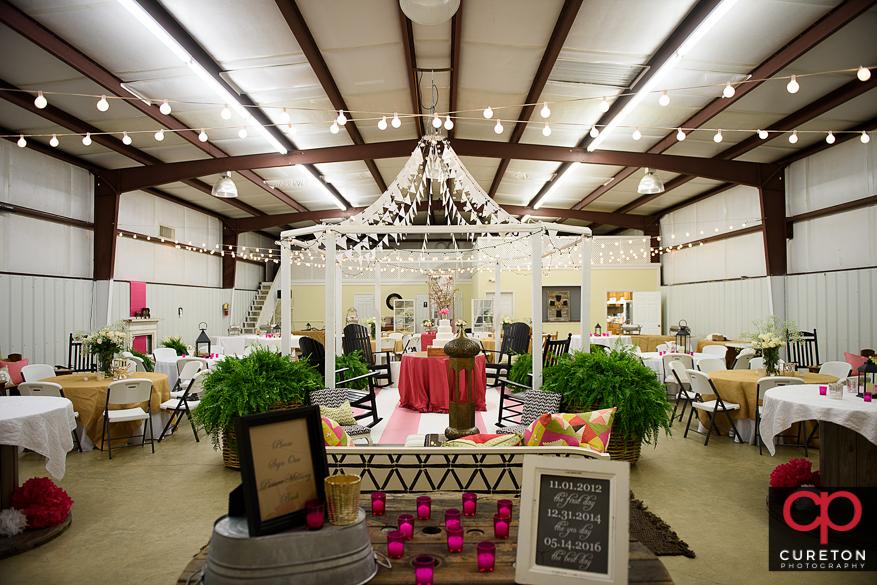 The church fellowship hall decorated for a reception in Sumter,SC.