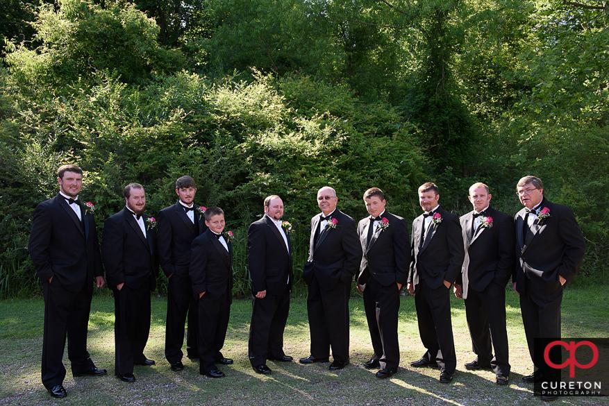 Groomsmen before the wedding.