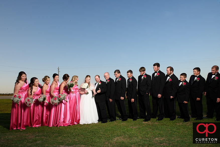 The wedding party after the wedding.