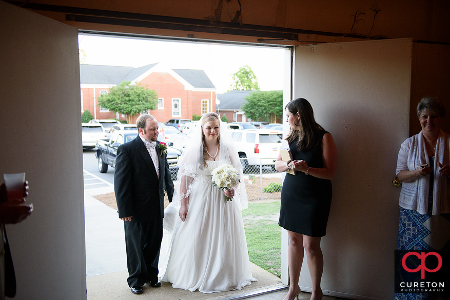 Bride and groom's entrance.