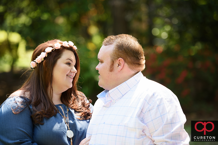 Lauren and RJ's engagement session at Swan Lake in Sumter,SC.