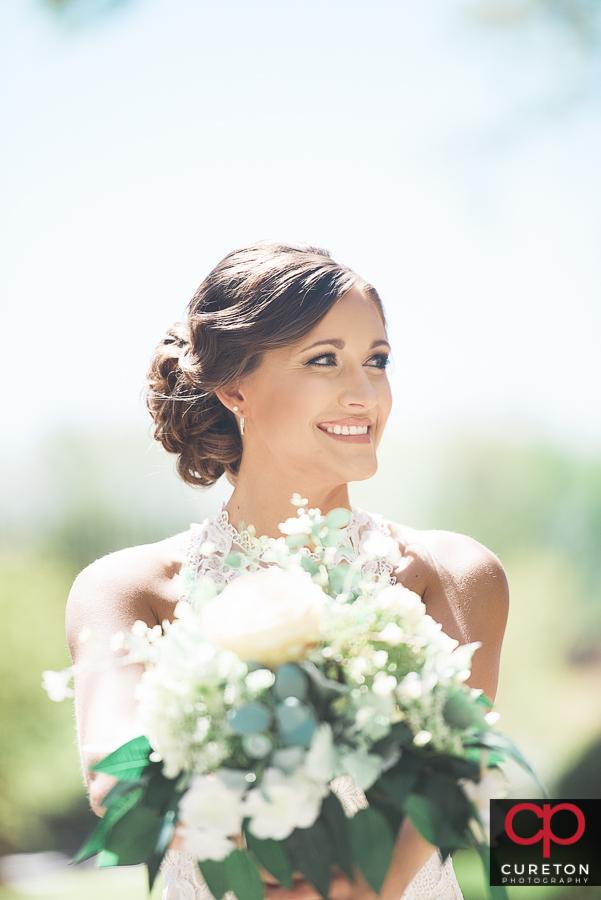 Fashion forward bridal session at the Taylors Mill near Greenville,SC.
