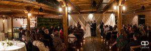Wedding ceremony at Urban Wren.
