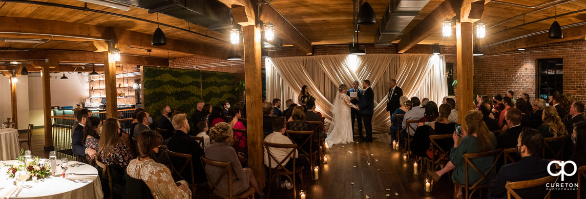 Wedding ceremony at Urban Wren.