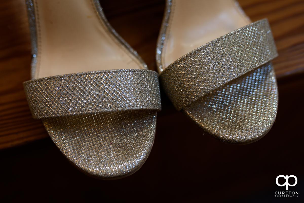 Bride's shoes.