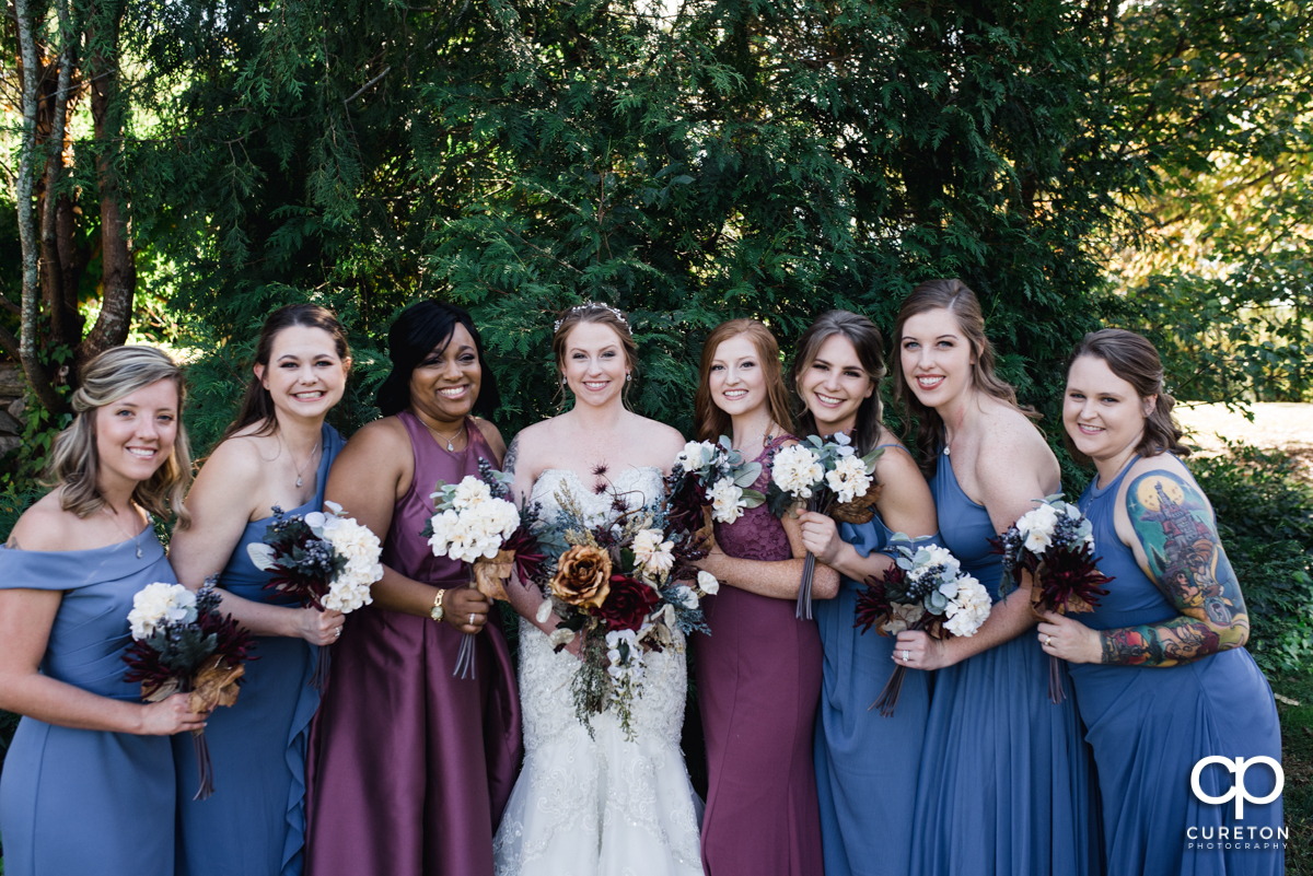Bride and the bridesmaids.