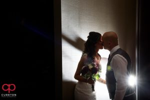 Epic shot of a bride and groom.